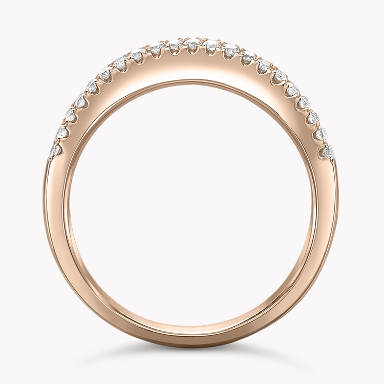 Rainbow Sapphire and Diamond Ring 1.31CT in 18CT Rose Gold Princess Cut, Three Row, Channel Set_2