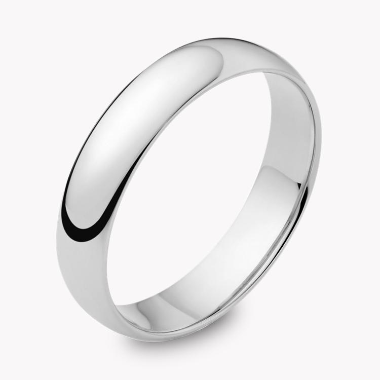 4mm Light Court Wedding Ring in Platinum