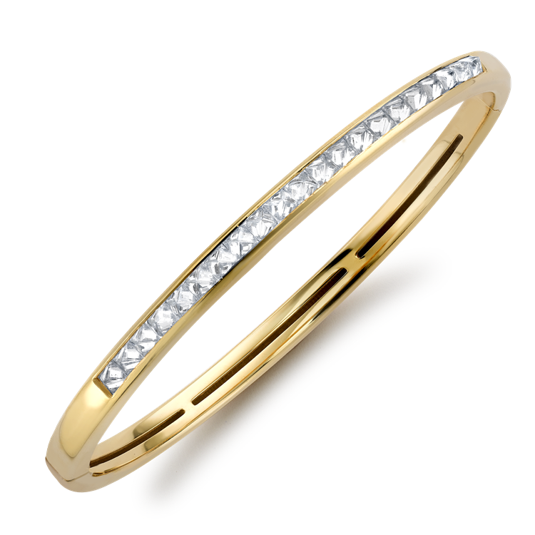 RockChic Diamond Bangle<br /> 1.74CT in Yellow Gold