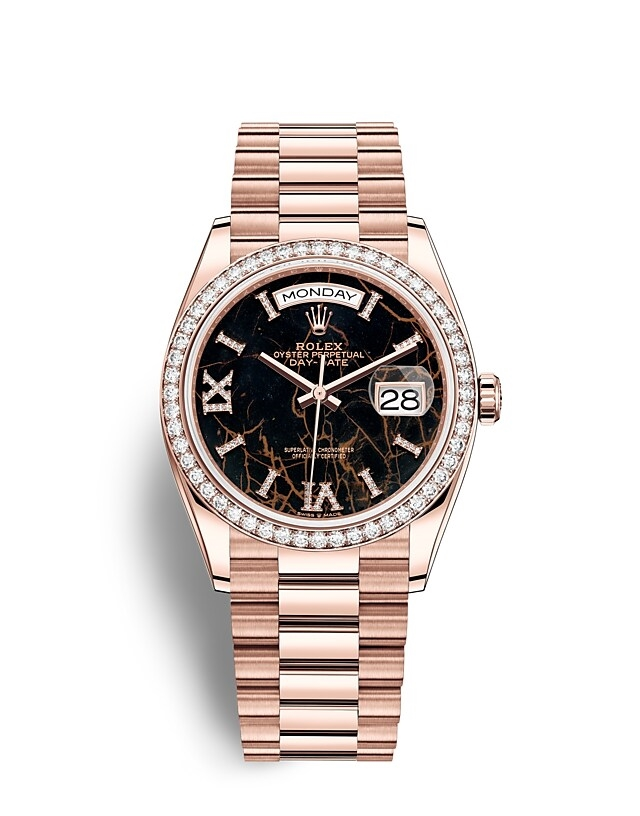 Day-Date 36 Oyster, 36 mm, Everose gold and diamonds