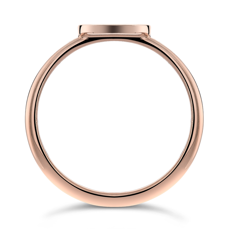 Ruby and Diamond Russian Roulette Ring  0.05 in Rose Gold Brilliant Cut, Rub Over Set_2