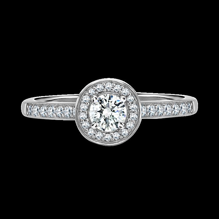 Diamond Cluster Ring <br /> 0.80CT in Platinum