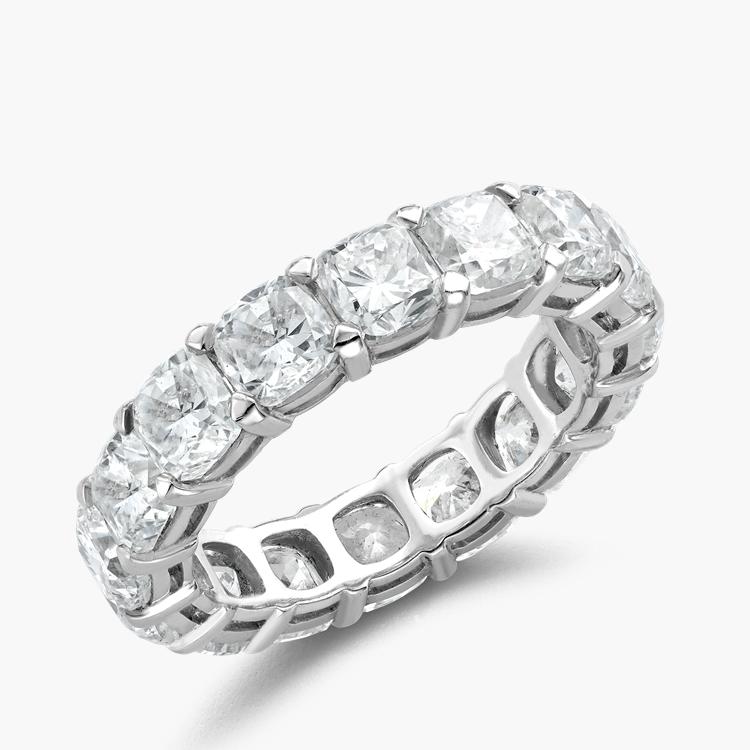 Cushion Cut Diamond Eternity Ring 6.20CT in Platinum Cushion Cut, Eternity, Claw Set_1