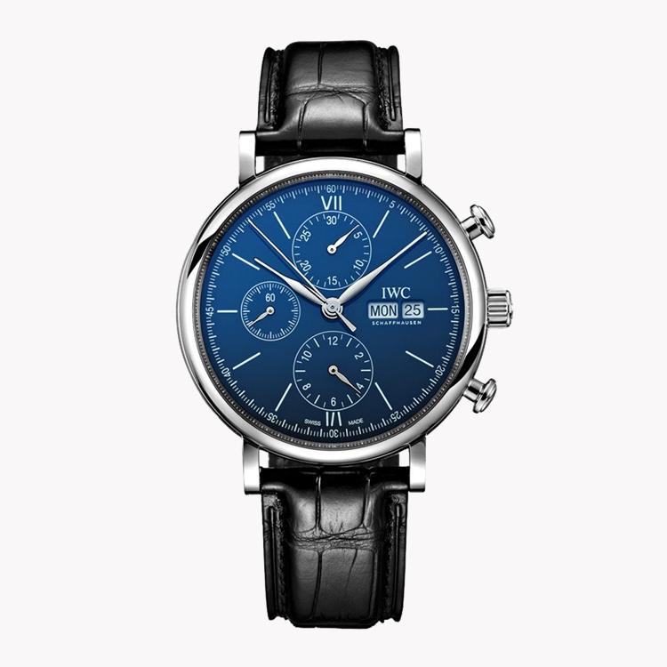 IWC Portofino Chronograph Edition '150 years'  IW391023 42mm, Blue Dial, Baton Numerals_1