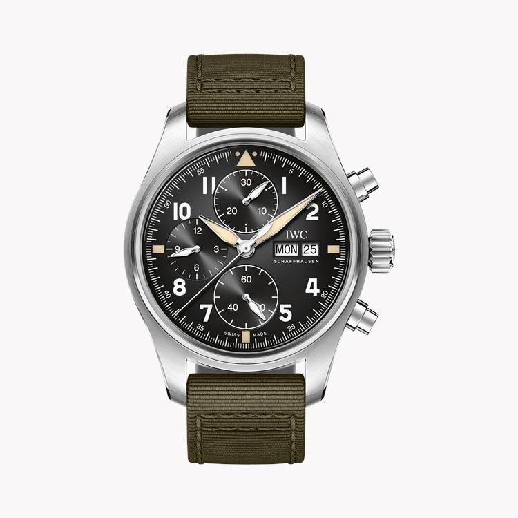 IWC Pilot's Spitfire Chronograph  IW387901 41mm, Black Dial, Arabic Numerals_1