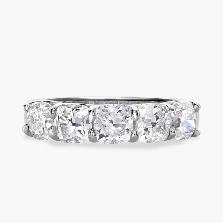 Cushion Cut Diamond Five-Stone Ring 3.06CT in Platinum Cushion Cut, Five-Stone, Claw Set_1