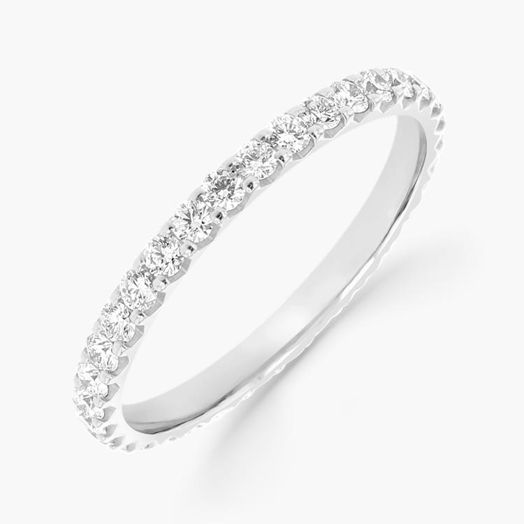 Brilliant Cut Diamond Eternity Ring 0.90CT in Platinum Brilliant Cut, Eternity, Claw Set_1