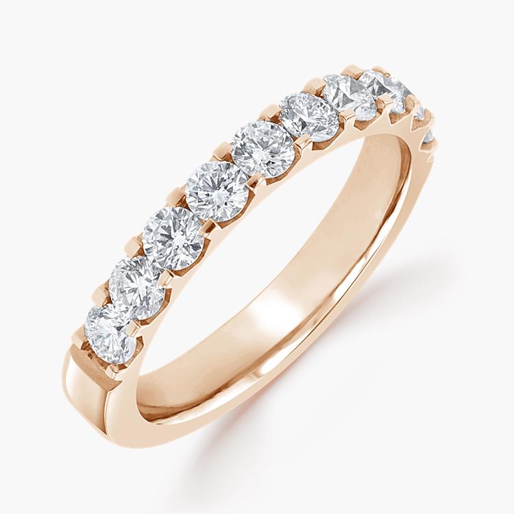 Brilliant Cut Diamond Half Eternity Ring 0.90CT in 18CT Rose Gold Brilliant Cut, Half Eternity, Claw Set_1