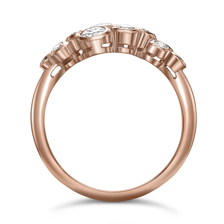 Bubbles Diamond Dress Ring<br /> 0.65CT in Rose Gold