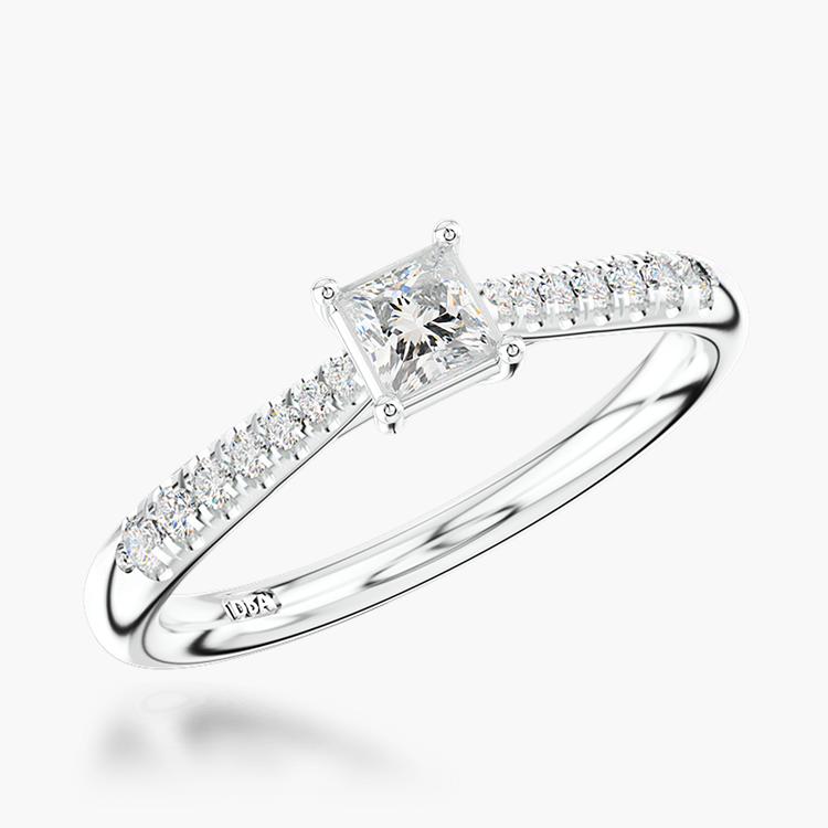 0.30CT Diamond Solitaire Ring Platinum Celestial Setting
