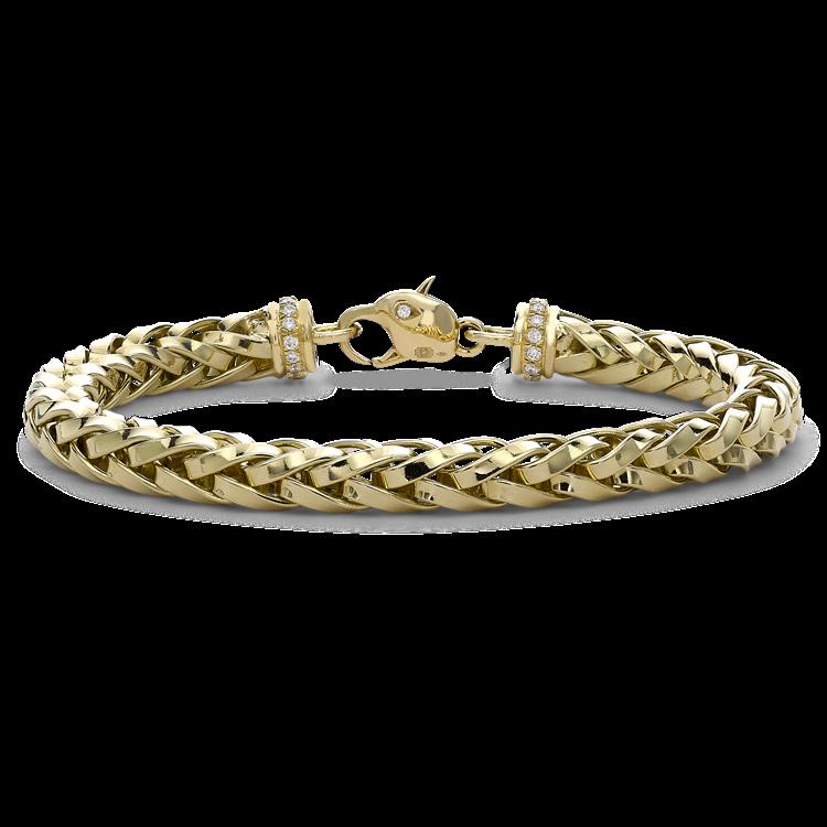 Skyfall 19cm Heavy Chain Bracelet in 18CT Yellow Gold