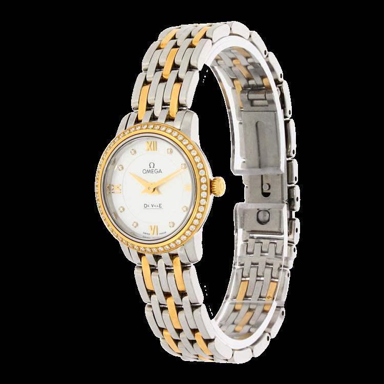 Omega De Ville Prestige  O42425246055001 24.4mm, Mother of Pearl Dial, Diamond Set_2
