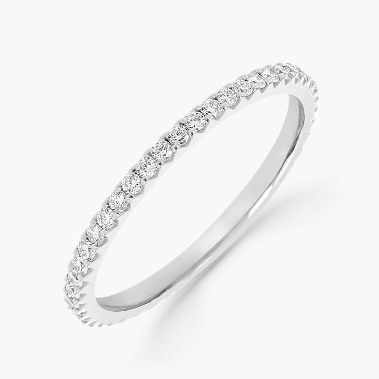 Brilliant Cut Diamond Eternity Ring 0.38CT in Platinum Brilliant Cut, Eternity, Claw Set_1