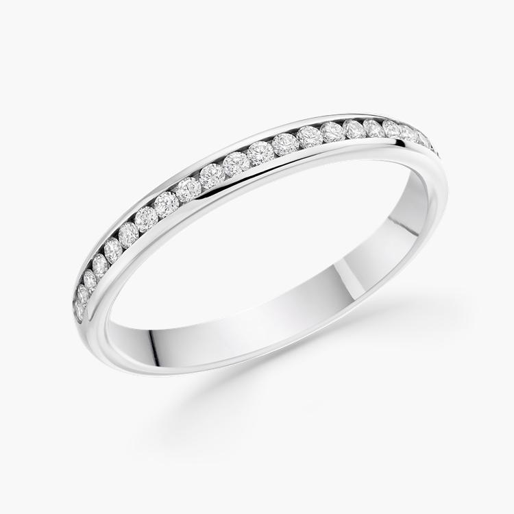 Brilliant Cut Diamond Half Eternity Ring 0.25CT in Platinum Brilliant Cut, Half Eternity, Channel Set_1