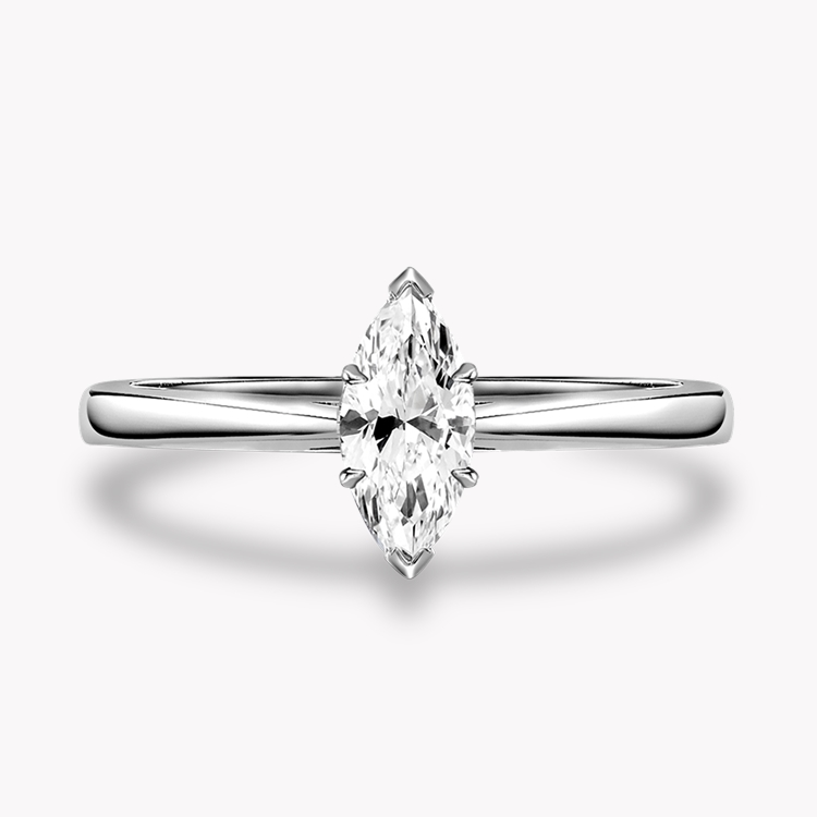 1.08CT Diamond Solitaire Ring Platinum Gaia Setting Marquise Cut, Solitaire, Six Claw Set_2