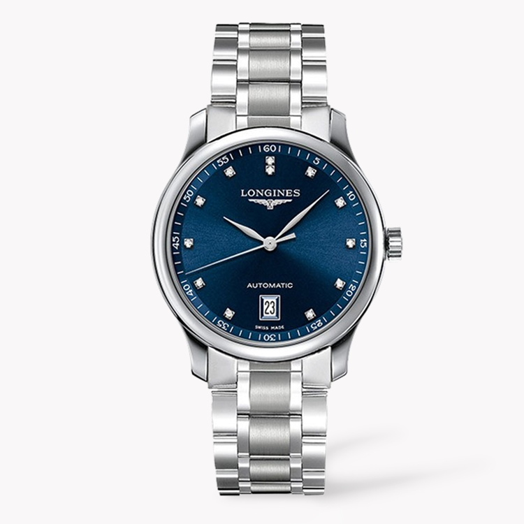 Longines Master collection   L2.628.4.97.6 38.5mm, Blue Dial, Diamond Numerals_1
