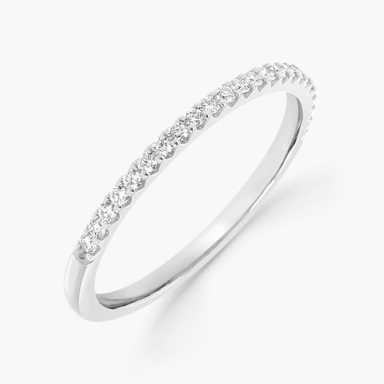 Brilliant Cut Diamond Half Eternity Ring 0.20CT in Platinum