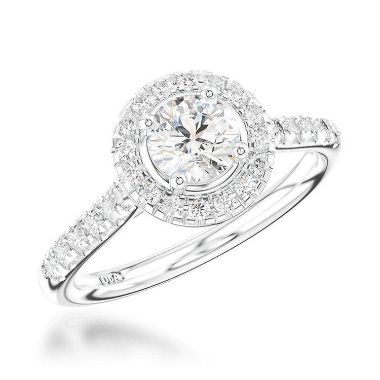 0.52CT Diamond Cluster Ring Platinum Celestial Setting