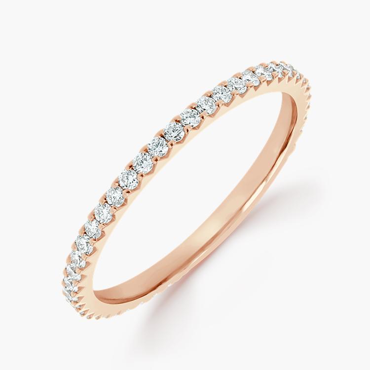 Brilliant Cut Diamond Eternity Ring 0.40CT in 18CT Rose Gold Brilliant Cut, Eternity, Claw Set_1