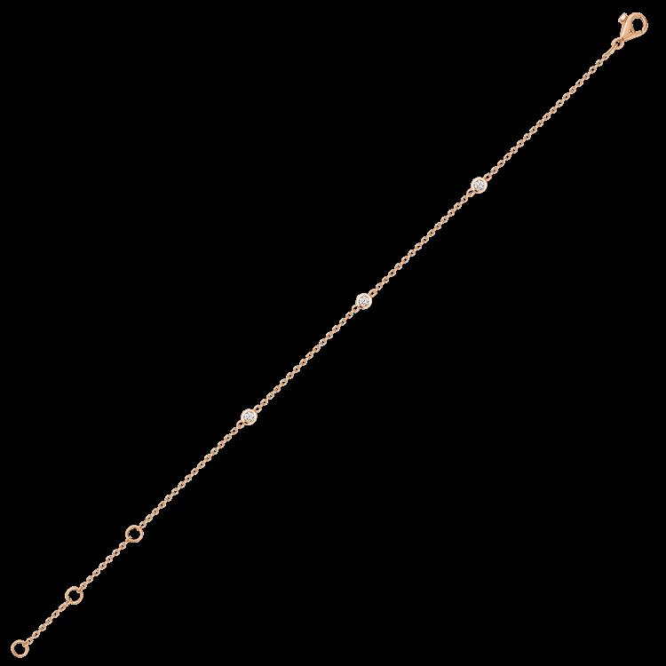 Sundance Diamond Bracelet  0.18CT in Rose Gold Brilliant Cut, Spectacle Set_2