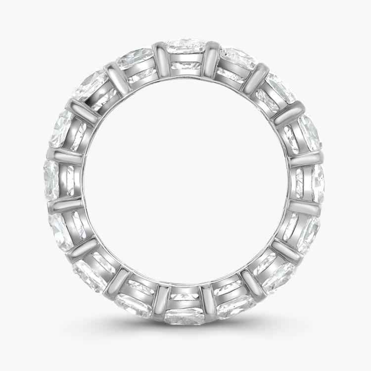 Cushion Cut Diamond Eternity Ring 6.20CT in Platinum Cushion Cut, Eternity, Claw Set_3
