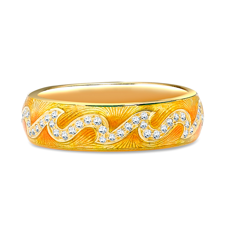 Poroca Diamond Ring<br /> 0.34CT in Yellow Gold