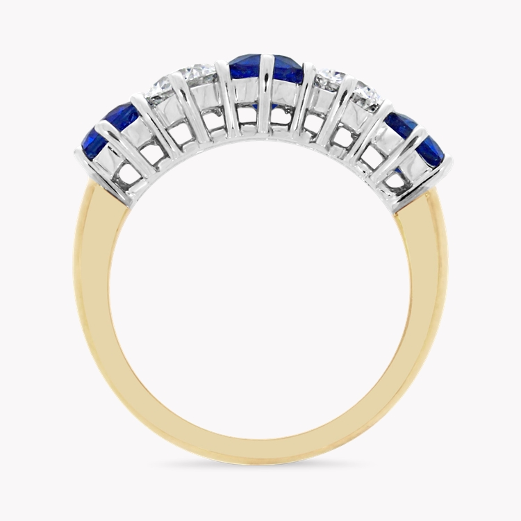 Sapphire and Diamond Five Stone Ring  2.86CT in 18CT Yellow and White Gold _2