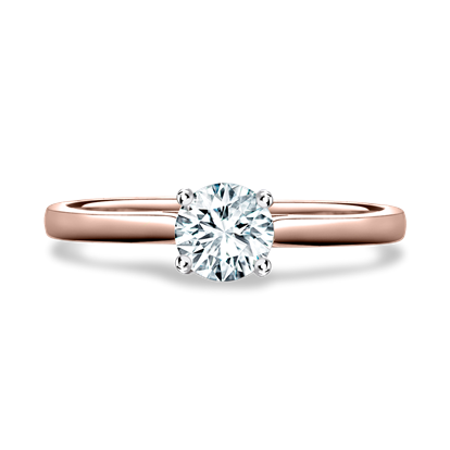Diamond Ring<br /> 0.34CT in Rose Gold and Platinum