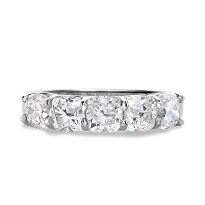 Cushion Cut Diamond Five-Stone Ring<br /> 3.05CT in Platinum
