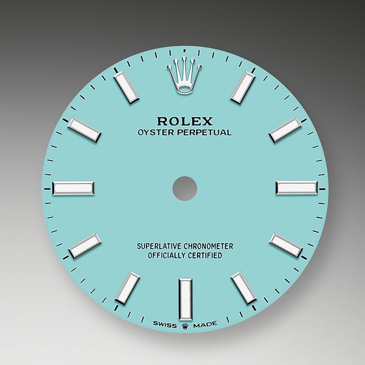 The dial is the distinctive face of a Rolex watch, the feature most responsible for its identity and readability.